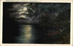 Susquehanna River by Moonlight Postcard