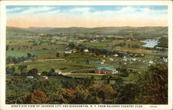 Bird's Eye View of Johnson City and Binghamton