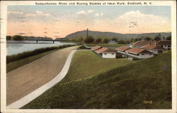 Susquehanna River and Racing Stables at Ideal Park