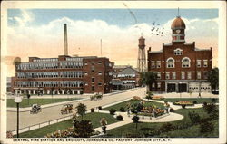 Central Fire Station and Endicott, Johnson & Co. Factory