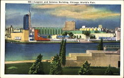 Lagoon and Science Building, Chicago World's Fair Postcard