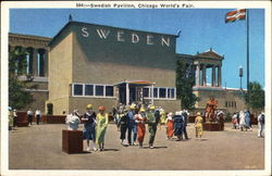 Swedish Pavilion - Chicago World's Fair Postcard
