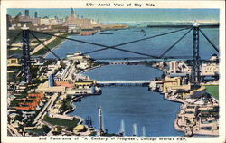 Aerial View of Sky Ride - Chicago World's Fair Postcard