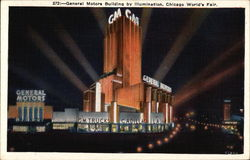General Motors Building by Illumination Postcard