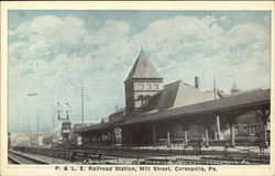 P. & L. E. Railroad Station, Mill Street