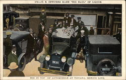 "US Officers make ""big haul"" of Liquor (Prohibition)"