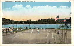 Tennis Courts and Cedar Lake