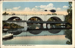 Rahway River and P. R. R. Bridge