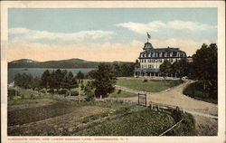 Algonquin Hotel and Lower Saranac Lake