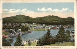 View of Saranac Lake, Showing Mts. Baker, Saddleback and Haystack