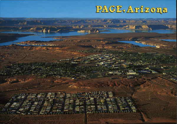 Aerial View of Town Page Arizona