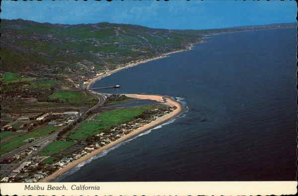 Aerial View of Malibu Beach California Don Ceppi