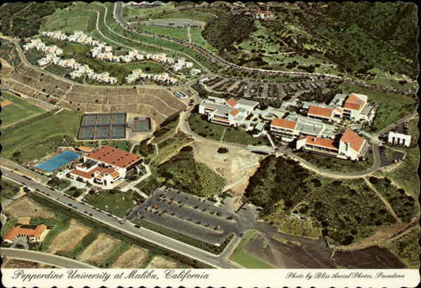 Aerial View of Pepperdine University Malibu California