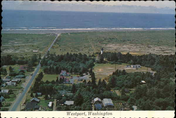 Aerial View of Westport, Washington