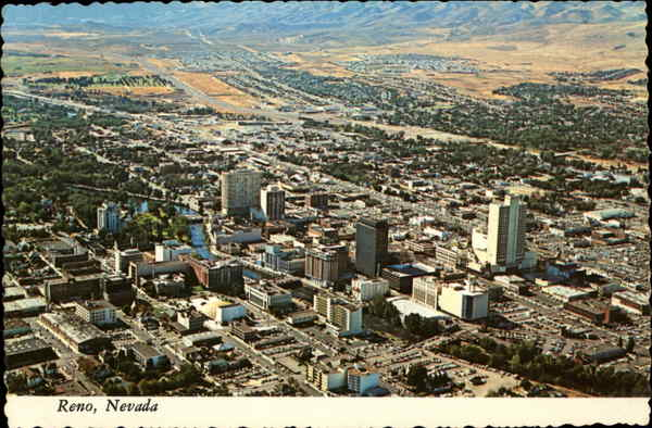 Aerial View of City Reno Nevada