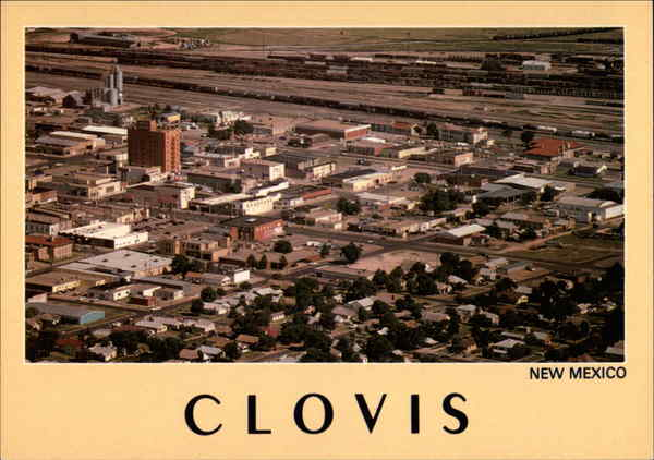 Aerial View of Town Clovis New Mexico Chuck Hatler