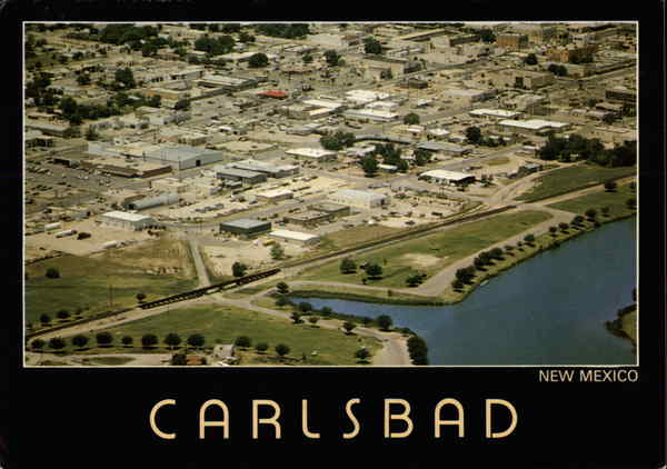 Aerial view of Carlsbad New Mexico