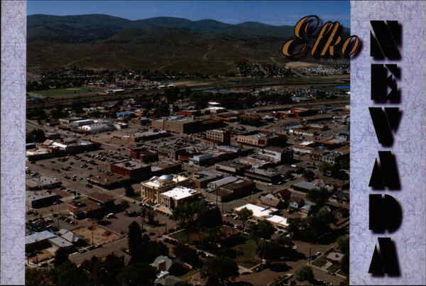 Aerial VIew of City Elko Nevada Don Green Photography