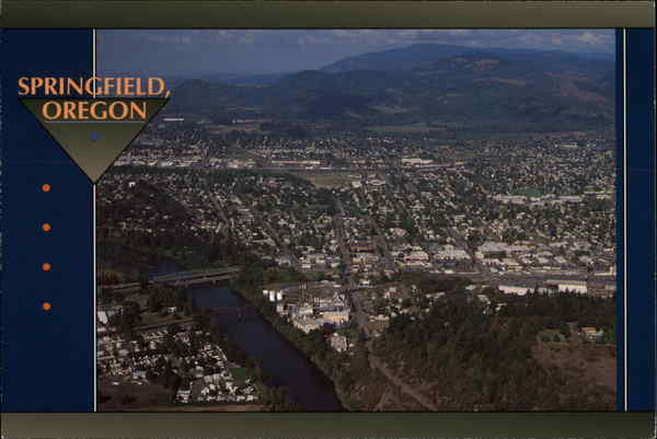 aerial view of the city springfield or