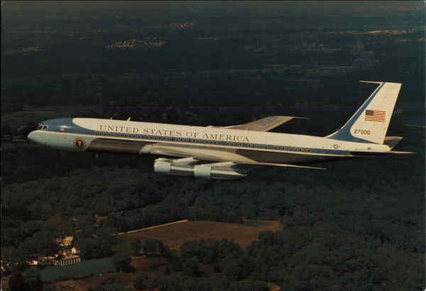 Air Force One in Flight Mount Vernon Virginia Aircraft