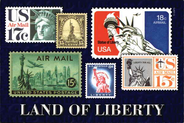 Land of Liberty Stamp Postcards
