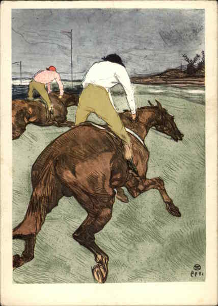 The Jockey by H. de Toulouse-Lautrec Art