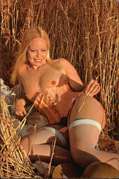 Nude Laying in Field Risque & Nude