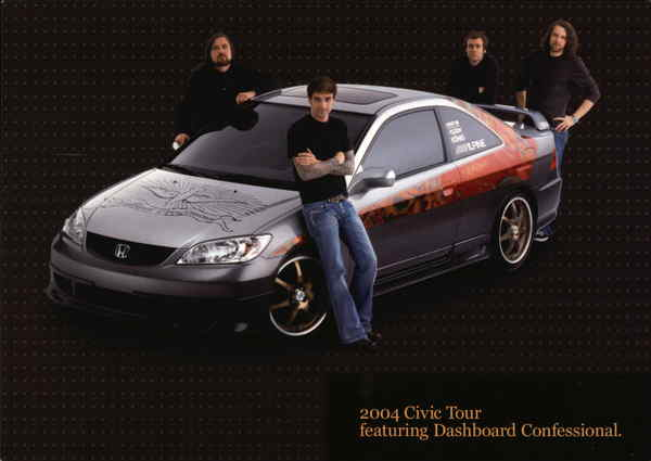 2004 Civic Tour Featuring Dashboard Confessional Cars