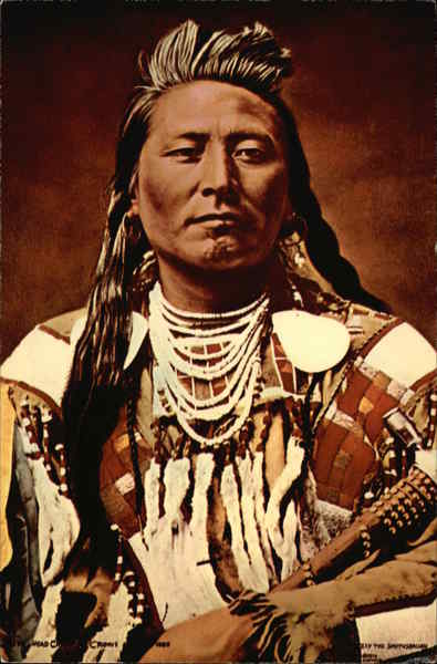 Plenty Coups, Crow Chief 1880, by C.M. Bell Native Americana