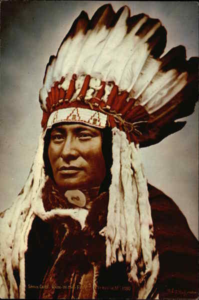 Sioux Chief Rain-In-The-Face Native Americana