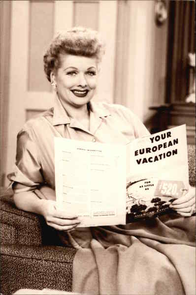I Love Lucy The Passport Movie and Television Advertising