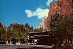 Zion Lodge Postcard