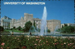 University of Washington - The Joseph Drumheller Fountain Postcard