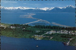 View of Town and Kachemak Bay Postcard