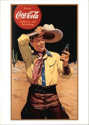 Cowboy With Bottle of Coca-Cola