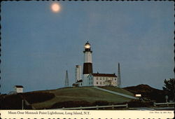 Moon Over Montauk Point Lighthouse