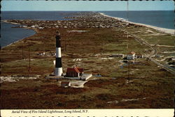 Aerial View of Fire Island Lighthouse