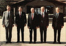 Presidents Bush, Reagan, Carter, Ford and Nixon