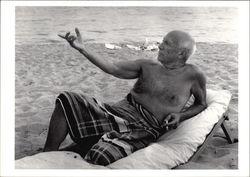 Picasso, On the Beach, Cannes, 1965