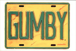 Gumby license plate