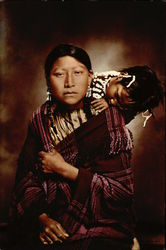 Young Cheyenne Mother and Child