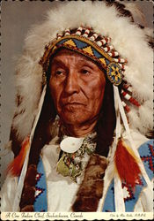A Cree Indian Chief, Saskatchewan, Canada