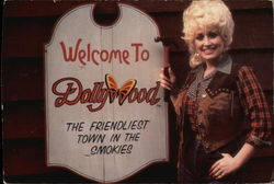 Dolly Parton and Dollywood Sign
