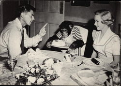 Ronald Reagan and Diana Lynn in Bedtime for Bonzo