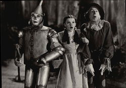 Jack Haley, Judy Garland and Ray Bolger in The Wizard of Oz, 1939