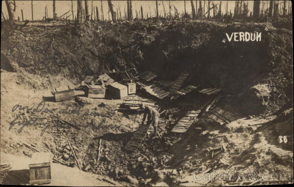 Cleaning Up After the Battle of Verdun France World War I