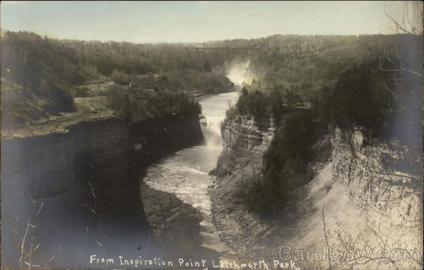 From Inspiration Point Letchworth Park New York