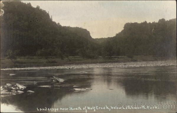 Landscape Near Mouth of Wolf Creek Below Letchworth Park Castile New York