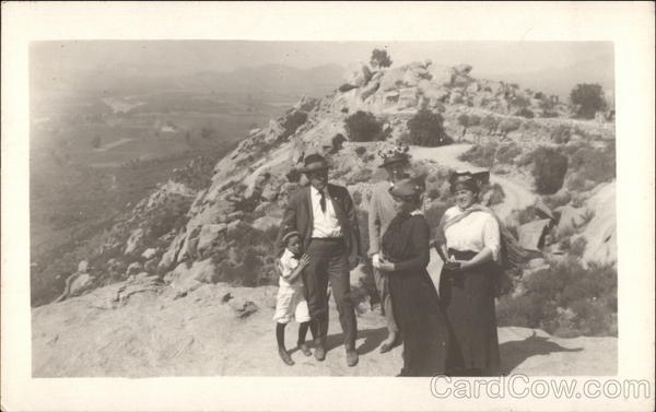 Family on Mountain Top Los Angeles California