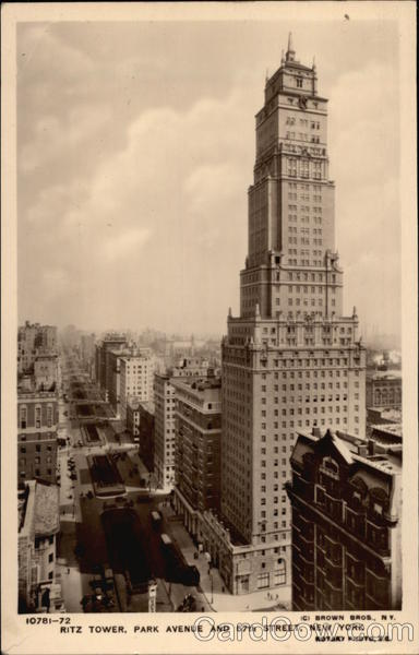 Ritz Tower, Park Avenue and 57th Street New York
